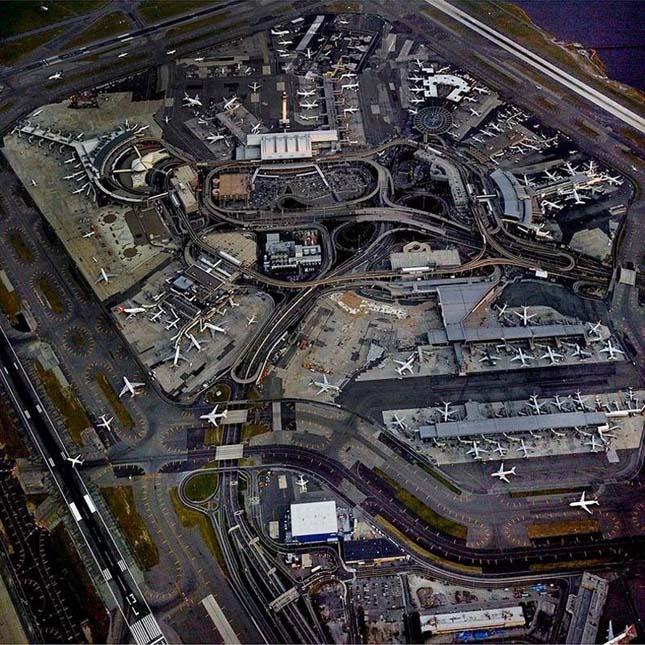 Repülőterek a magasból