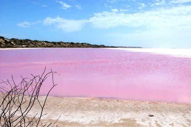 A legszebb rózsaszín tavak