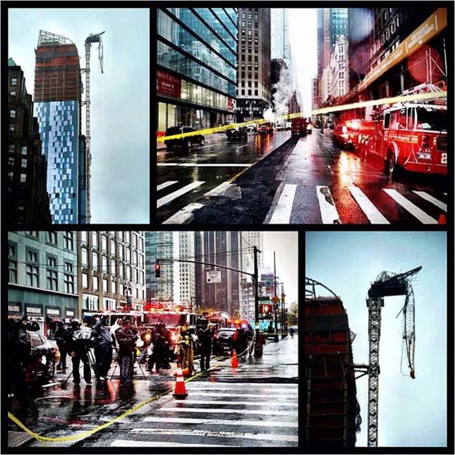 Katasztrófafilmbe illő képek New Yorkból