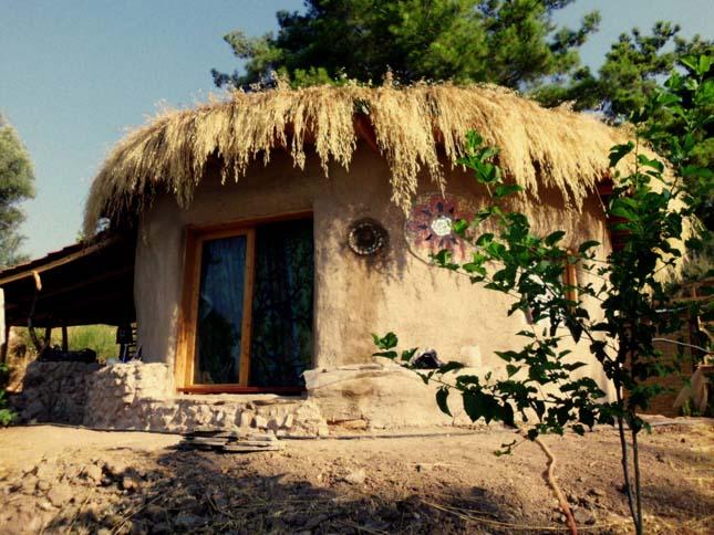 sárból épült ház