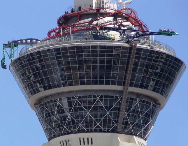 Vidámpark a Stratosphere torony tetején