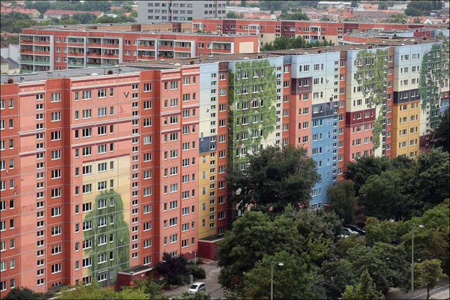 Színesen festett Lakótelep