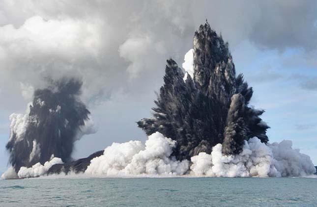 Tenger alatti vulkánkitörés Tongán