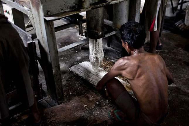 Tésztagyár Indonéziában