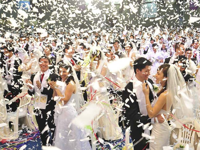 Tömeges esküvők Dél-Koreában