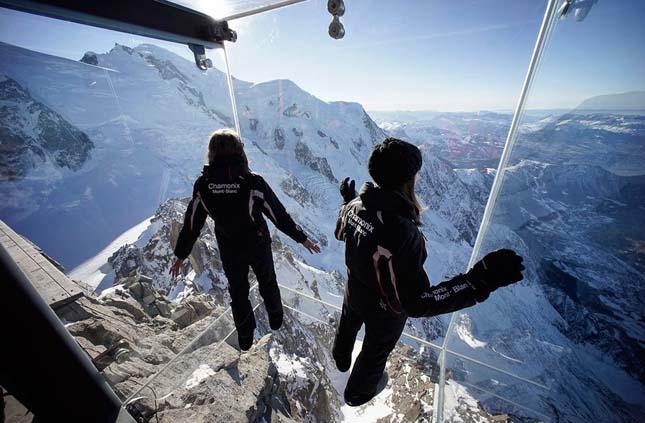 Üvegkilátó, Mont Blanc