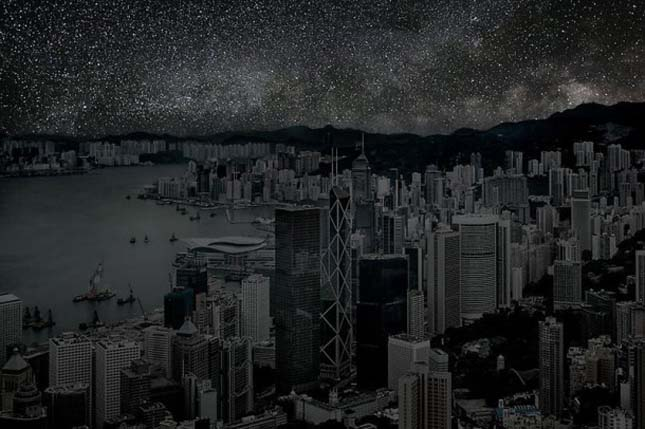 Nagyvárosok világítás nélkül