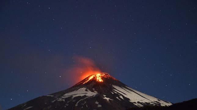 Villarrica vulkán