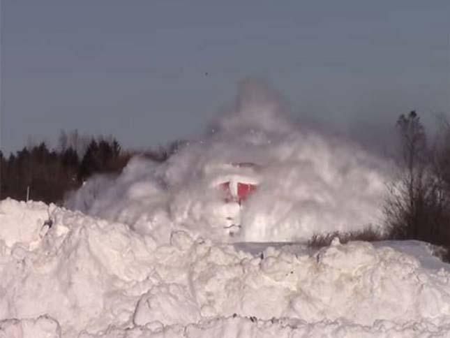 Kanadai vonat a hóban