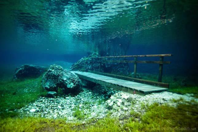 Búvárkodás az ausztriai Zöld-tóban