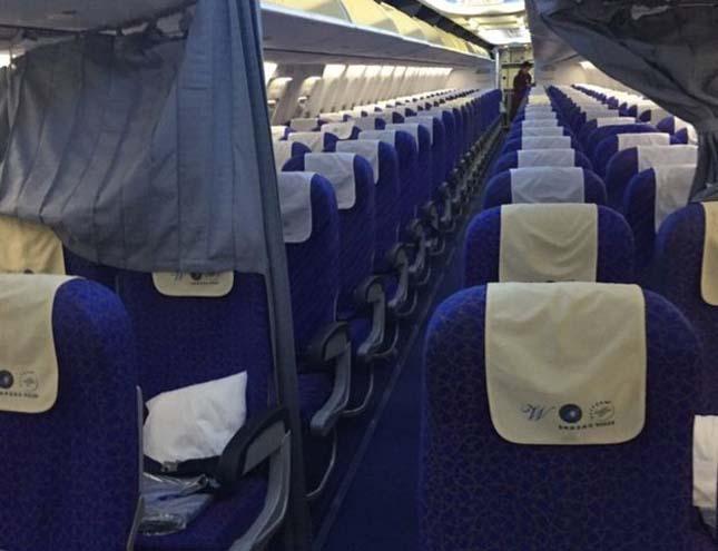 Egyedül utazott a repülőn