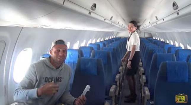 Egyetlen utas volt a repülőn