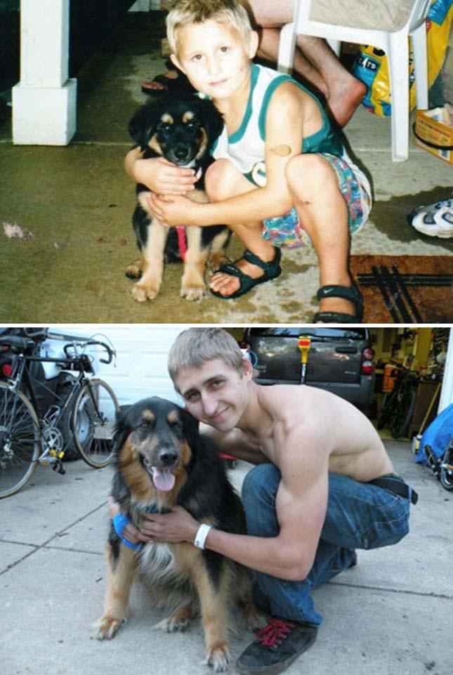Kutyák és gazdáik, akik együtt cseperedtek fel
