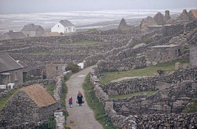 Írország különleges kőfalai