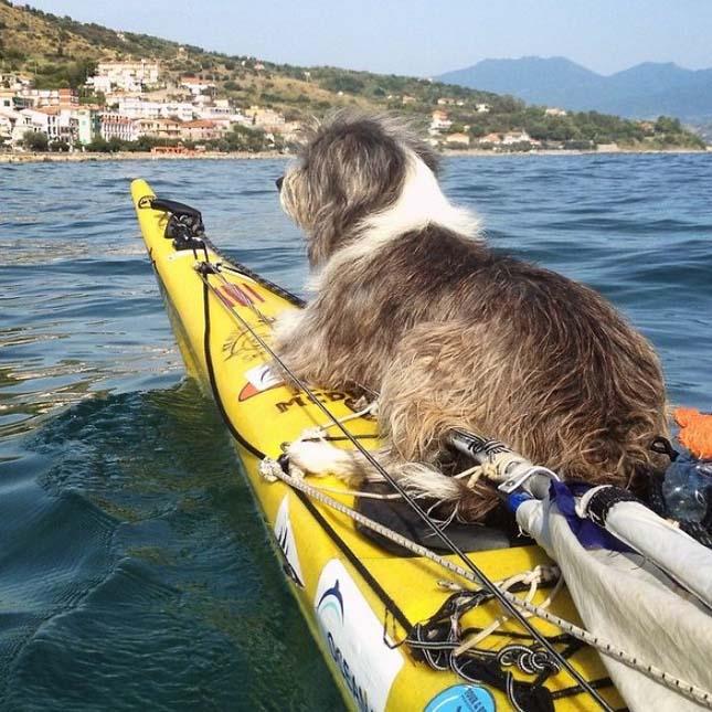 Kajakkal a Földközi-tengeren