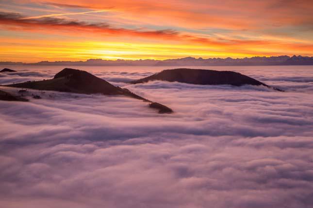 Ködbe burkolózó tájak