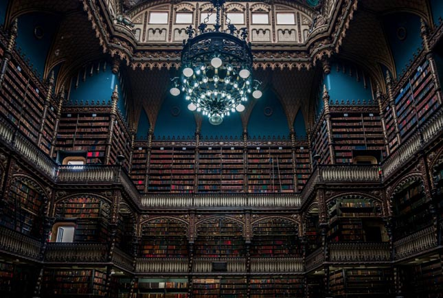 A királyi portugál könyvtár, Rio de Janeiro, Brazília