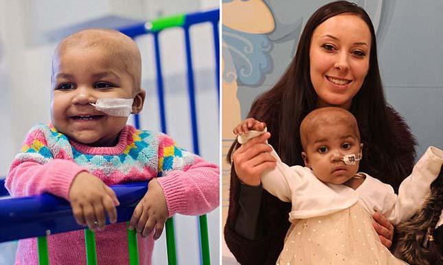 Meggyógyítottak egy leukémiás kislányt