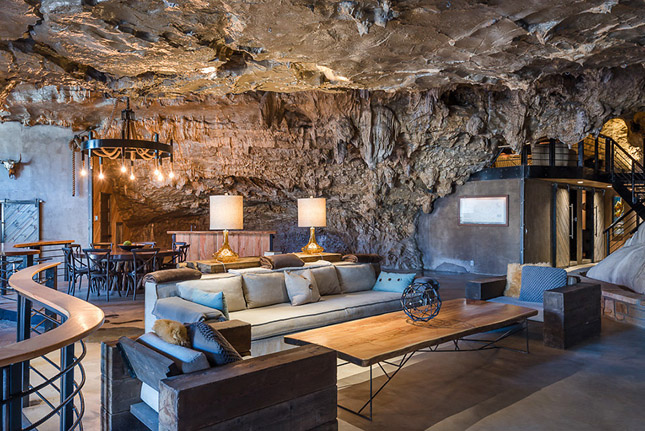 Luxusotthont alakítottak ki a barlangban