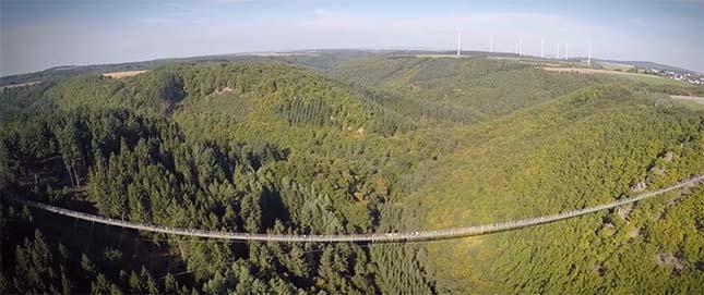 Németország leghosszabb függőhídja