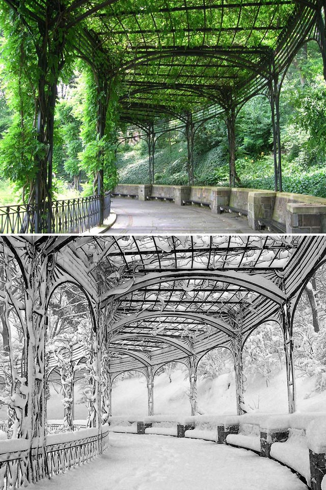 Consevatory Garden, Central Park, New York, USA