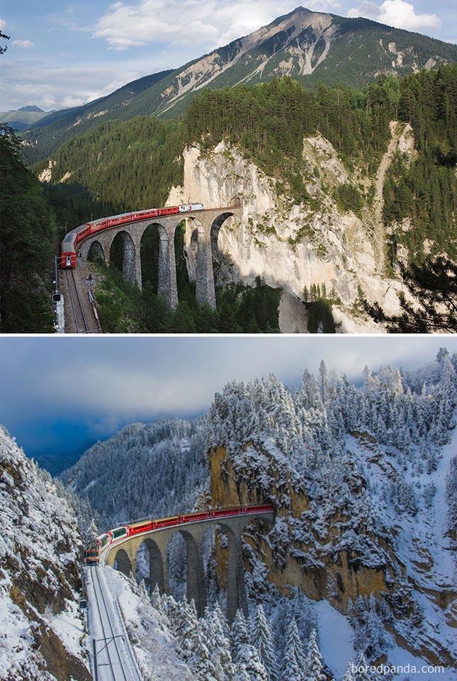 Landwasser Viadukt, Svájc