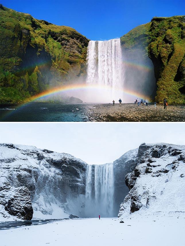 >Skógafoss vízesés, Izland