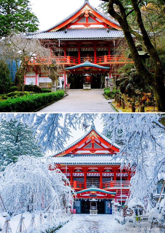 Natadera templom, Japán