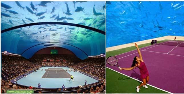 Víz alatti tenisz stadion