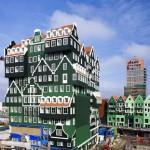 Egy különleges formájú holland szálloda