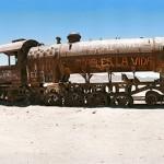 Elhagyatott vonattemető Bolíviában