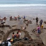 Hot Water Beach -Termálfürdő egy Új-Zélandi tengerparton