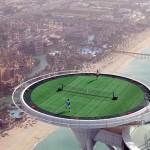 Teniszpálya 211 méter magasan