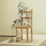 David Oliveira drótokból készült szobrai
