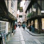Középkori utca York városában