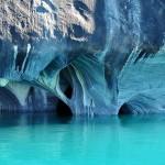 Gyönyörű chilei márvány barlang