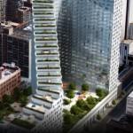 A Mercedes különleges lépcsőzetes épülete New York-ban