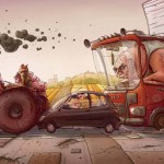 Michal Dziekan humoros illusztrációi