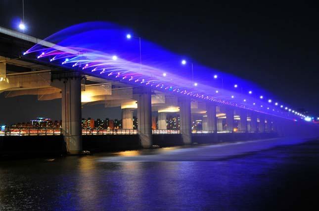 A szökőkutakkal teli híd a Banpo híd, Dél Korea3