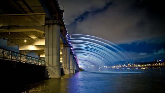 A szökőkutakkal teli híd a Banpo híd, Dél Korea5