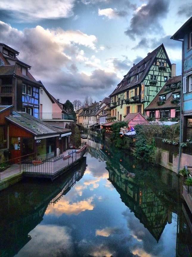 Colmar város északkeleti része Franciaország