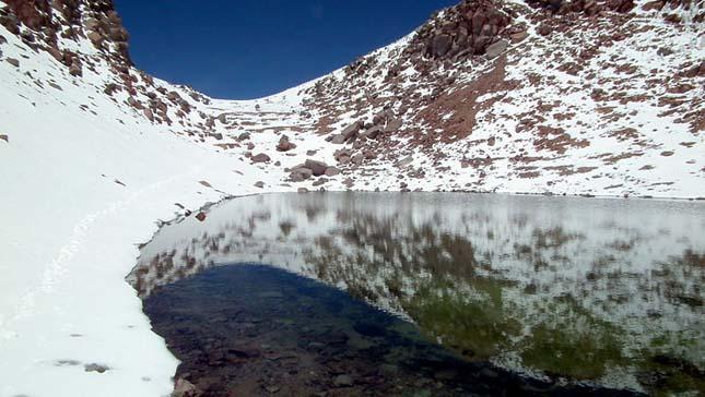 Kráter-tó Likankabur vulkán - Chile
