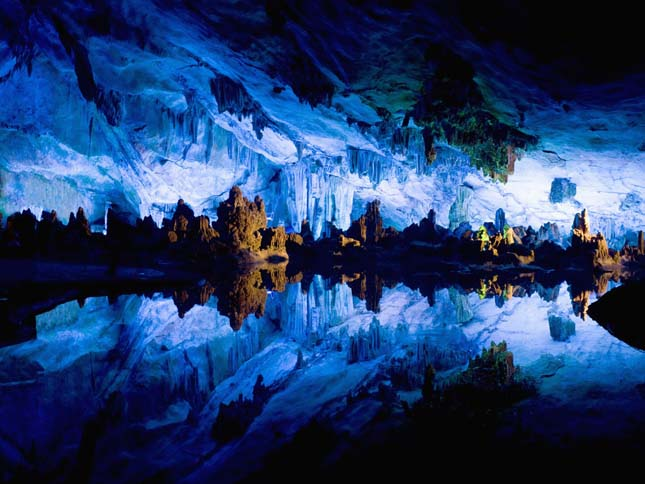 Crystal Palace of Reed Flute Cave in Guilin, Guangxi Province, China