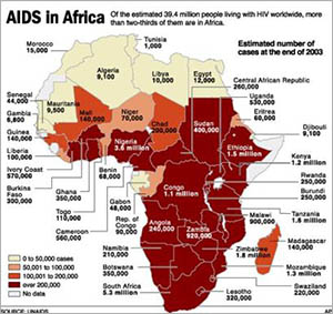 AIDS fertőzés Afrikában