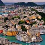 Alesund – gyönyörű Norvég kikötőváros