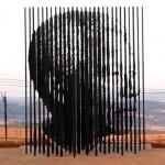 Nelson Mandela különleges szobra