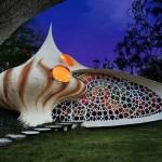 Nautilus-ház – kagylóház Mexikóvárosban