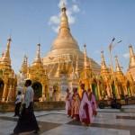 Shwedagon Paya – aranyozott buddhista szentély