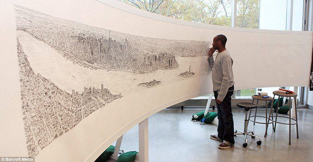 Stephen Wiltshire - New York lerajzolása