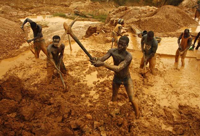 Aranybányászat